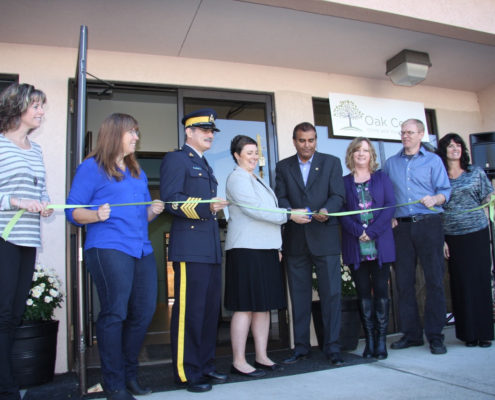 Ribbon cutting ceremony at Oak Centre